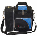 900 Global Deluxe 1 Ball Tote Bowling Bag - Black/Blue