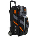 Motiv Vault 3 Ball Roller Bowling Bag - Black/Orange