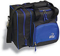 BSI Deluxe Single Bowling Bag - Black/Blue