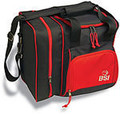 BSI Deluxe Single Bowling Bag - Black/Red