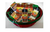 All Natural Mild to Medium Mix.  Arizona's Best Flavors in one basket. Contains 1 Green Chili Dip Mix, One Mexican Style Mix, One salad and Vegetable Seasoning, One Medium Salsa and one Pineapple Salsa.  Great value and any time gift
