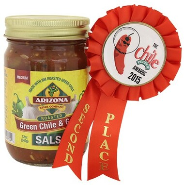 New Label Same Great Salsa! Hatch NM Roasted Green Chile and Garlic.  Yum!  Dip, marinade and burger topper.  This one is so tasty you will want more than one!