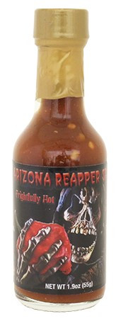A flavorful blend of Ghost Pepper and Carolina Reaper come together to make this sauce a big hit.  Also try our Reapper Jr.  Half the heat and all the flavor.