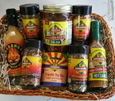 8 Item Variety Basket.  Mild to Medium Heat.  The Perfect gift for the person who loves Hatch Green Chile.  Includes our new VERY popular Deb's Flavor Crystals.  The Habango (Habanero Mango Hot Sauce) Packs a punch but pair it with chicken and it's wonderful!