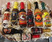 The Hot Sauce Lovers Delight!  All 9 hot Sauces in one nice gift. Great value and a nice basket to keep.  Basket may vary but will be the same value.