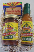 All Natural Award Winning Green Chile and Garlic Hot Sauce and Salsa along with our all natural veggie and chip dip.  Sure to please the green chile lover you know.