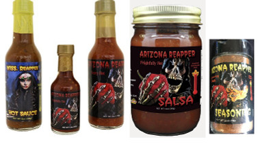 It's all about the flavor in this special 5 pack.  Sure to please that person who likes the heat!  All natural award winning products.  Honey Sweet and Spicy to extremely hot.  A nice mix.