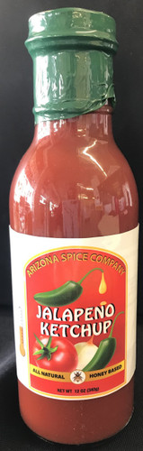 Jalapeno Spice and Honey Sweet Ketchup.   Great all natural flavor.