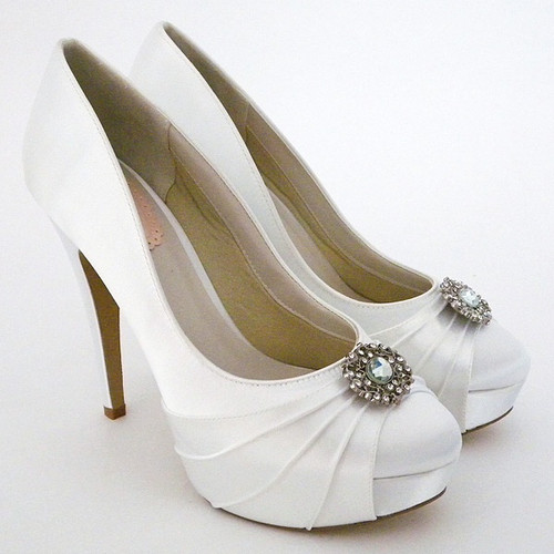 Bedazzle Dyeable Satin Bridal Pump