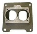 Throttle Body Adapter 4-BBL to 2-BBL  Used with EFI Airgap or M1 Intake Manifold