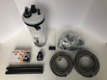 E85 Fuel System Kit with Black Fuel Rails, New Fuel Pump Module with Hellcat 525 Pump, and Wiring Kit