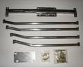 X-Brace for 2001-2004 Club Cab/Quad Cab CC / QC Dakota Bare Uncoated Steel
