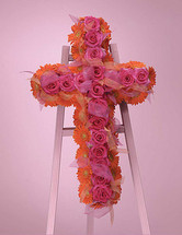 ORANGE PINK CROSS