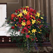 VIBRANT SPLENDOR CASKET SPRAY