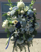 MY DEEPEST CONDOLENCES- BLUE AND WHITE