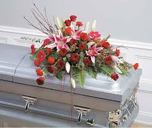 STARGAZER CASKET SPRAY