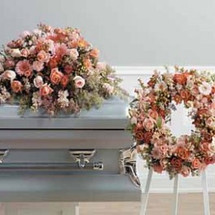 YOUR SYMPATHY - 2 PIECE CASKET/WREATH