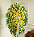 Yellow and White Sympathy Standing Spray (Medium)