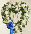 Blue and White Open Heart