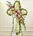 White Cross with Pastel Flower Break