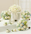 Bridal Party Personal Package Blue and White Bridal Bouquet