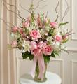 Pink and White Large Sympathy Vase Arrangement