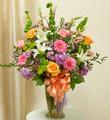 Pastel Sympathy Vase Arrangement