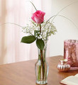Love's Embrace in Pink Single Rose Bud Vase