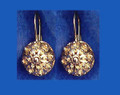 **14 K Gold Sibenski Botuni Earrings ~2.09 grams~ Half Ball:  DISCOUNTED! RE-STOCKED!