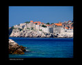 """Dubrovnik from the Sea"" by Croatian Photographer Don Wolf: STEEPLY DISCOUNTED PRICE!"