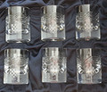 CRYSTAL IMPORTED FROM CROATIA ~ Sljivovica Gift Box Set of SIX Shot Glasses with Pleter and Grb Design! NEW, Larger Size! RE-STOCKED! Discounted Price!