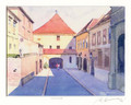 "Miho Simunovic Watercolors ~ ""Gornji Grad ~ Zagreb"" ~11in x 14in"