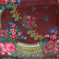 SHAWL: Burgundy from Medjimurje ~ Imported from Croatia ~ THIRD PRICE DROP! RE-STOCKED!
