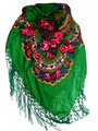 *Dark Green Medjimurje Shawl ~ Imported from Croatia ~ THIRD PRICE DROP!  SOLD OUT!