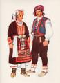 *Vladimir Kirin Costume Prints ~ Imported from Croatia: Village of ZLOSELA, Bosnia (Numbered Print): SALE!