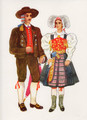Vladimir Kirin Costume Prints ~ Imported from Croatia: KOROSKA, Slovenija (Numbered Print)
