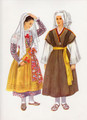 Vladimir Kirin Costume Prints ~ Imported from Croatia: SOLKANPRI GORICI, Slovenija (Numbered Print)