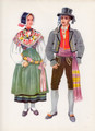 Vladimir Kirin Costume Prints ~ Imported from Croatia: KRANJSKA GORA, Slovenija (Numbered Print)