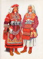 Vladimir Kirin Costume Prints ~ Imported from Croatia: Village of Prilep, Krusevo, Macedonia (Numbered Print): SALE!