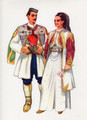Vladimir Kirin Costume Prints ~ Imported from Croatia: Village of CETINJE, Crna Gora (Numbered Print)