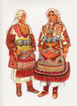 Vladimir Kirin Costume Prints ~ Imported from Croatia: Village of Prilep, Krusevo, Macedonia (Numbered Print) Art/Kirin/Macedonian/Krusevo/Prilep/Old #85: SALE!