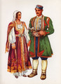 Vladimir Kirin Costume Prints ~ Imported from Croatia: Village of Risan, Crna Gora (Numbered Print)