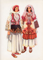 Vladimir Kirin Costume Prints ~ Imported from Croatia: Village of PEC, KOSOVO (Numbered Print)