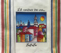 "**Croatian Cooking ~ Kitchen Towel ~ ""I'd Rather Be on...KRK"" ~ with Multi Color, PRIGORJE Stripe! NEW!"