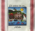 "**Croatian Cooking ~ Kitchen Towel ~  ""I'd rather be on...HVAR"" ~ with 'Croatian Red' Stripe! NEW!"
