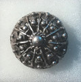 ****Adjustable Ring with Large, Half-Ball Botuni, Imported from Croatia: NEW! (#1)