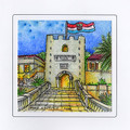 CROATIAN MEMORIES: Hand Painted Frameable ART CARD ~ Imported from Croatia, Korcula: ONE-OF-A-KIND! 75% Off SALE!