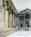 "Miho Simunovic Watercolors ~ ""Peristil, Diocletian's Palace2"" - 11 in x 14 in"