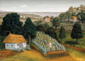 "Ivan Generalic, Master Naive Artist ""The Vineyard"" 1952 ~ NOW UV-COATED for PROTECTION!"