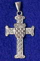 PLETER CROSS with GRB, 14K White Gold (3.3grams) SPECIAL ORDER ONLY!